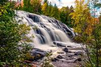 bond falls, upper peninsula, michigan, ontonagon, river, waterfall, cascade