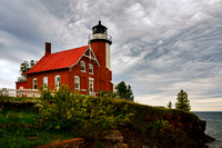 eagle harbor, light house, lighthouse, upper penisula, michigan, print