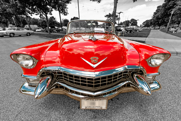 vintage, classic, cadillac, car, automobile, auto, wide angle, smile
