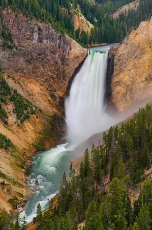 Lower Falls, Yellowstone River, yellowstone, national park, waterfall, grand canyon, wyoming